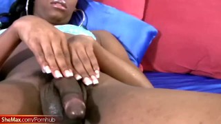 Leaked FULL video of beautiful ebony femboy jerking shecock