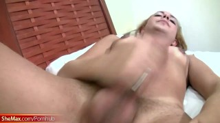 Light haired tranny plays with massive ass in tight thongs Missionary toys
