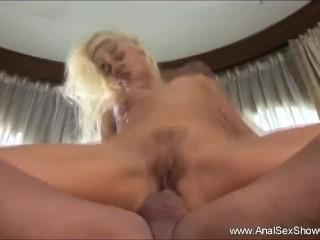 Skinny Blonde MILF Wild Anal Gaping