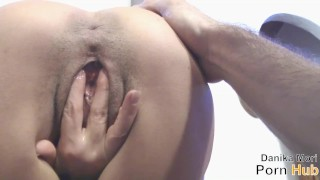 Fuck and Cum inside me!! Outside brunette