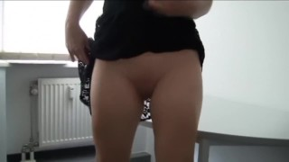 Pussy boss secretary and cum fucks up close inside with creampie office pussy orgasm