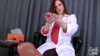 Doctor's Viagra Boner Cure: FULL VIDEO HJ by Lady Fyre femdom  olivia fyre lady fyre medical nurse redhead femdom mom doctor big dick kink happy ending mother laz fyre viagra