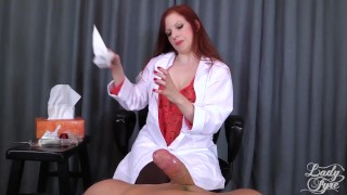 Doctor's Viagra Boner Cure: FULL VIDEO HJ by Lady Fyre femdom softcore redhead medical femdom kink mom olivia-fyre doctor mother lady-fyre happy-ending nurse viagra big-dick laz-fyre