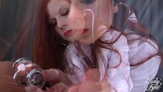 Doctor's Viagra Boner Cure: FULL VIDEO HJ by Lady Fyre femdom  olivia fyre lady fyre medical nurse redhead femdom mom doctor big dick kink mother laz fyre happy ending viagra