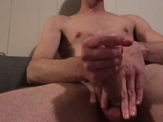 Straigh guy Stroking cock every which way till sunday fleshlight fuck