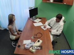 FakeHospital Shy cute Russian cured by cock in mouth and pussy treatment