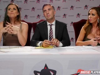 Xnxx Policy Nikki Benz & Tori Black Judging Blowjob Skills In Dpstar 3 Audition Ep 1