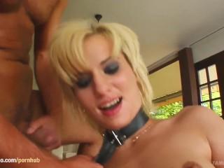 Carmen in hard gonzo style scene from Tamed Teens