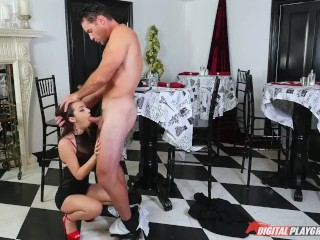 DP Star 3 - Petite Teen Lily Jordan Deep Throat Blowjob