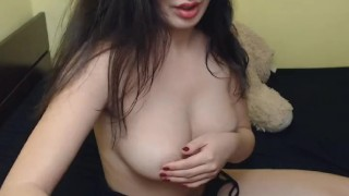 Cum On Her Titties After Hard Anal Fucking