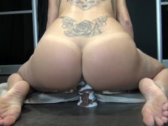 Young lover undresses and makes deep blowjob