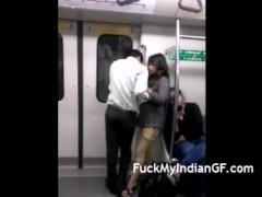 Indian GF Boobs Pressed In Delhi Metro