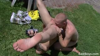 Village Boys - Outdoor Sex Action American jock