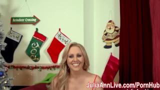 Preview 2 of Busty Milf Julia Ann Sucks Off Santa!