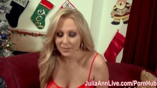 Preview 3 of Busty Milf Julia Ann Sucks Off Santa!