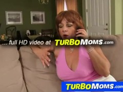 Redhead 50+ lady Sarah and her young fuck-buddy