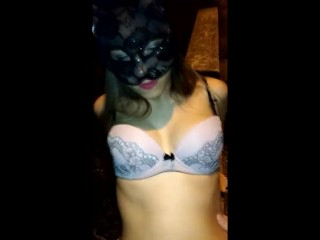 Drunk and naked girl gets cock in a public parking lot