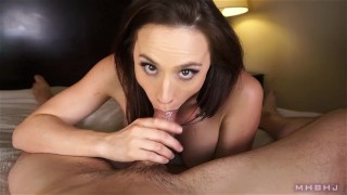 MHBHJ - Chanel  throating chanel-preston babe big-tits point-of-view marks-head-bobbers mhb blowjob natural-boobs pov mark-rockwell bare-feet edging brunette the-pose mhbhj