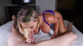 MHBHJ - Cali  deepthroat mhbhj ocp oral-creampie deepthroat cock huge-dick point-of-view booty marks-head-bobbers mhb blonde mark-rockwell