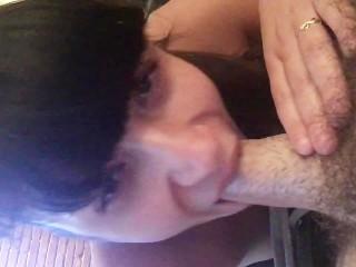 Cum swallowing deepthroat!