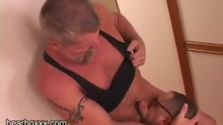 Hairy Bear Loads Sucking cock