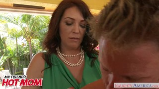 Big tits MILF Charlee Chase swallows a young cock - Naughty America Shaved small