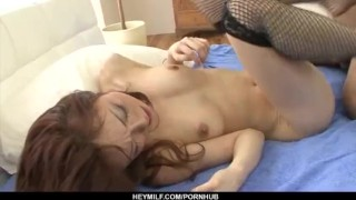 Great hardcore sex with amazing Sara Seori  pussy hot-milf hairy-pussy uniform sexy stockings nice-ass heymilf doggy style hardcore action black stockings cock-sucking