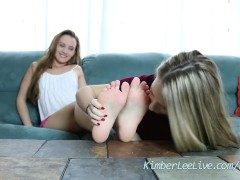 Teens Kimber Lee & Ashlynn Worship Each Other...