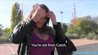 PublicAgent Massive hanging boobs from hungary Sitting brunette