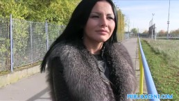 PublicAgent Sweet hot sexy ass shown off in public before blowjob