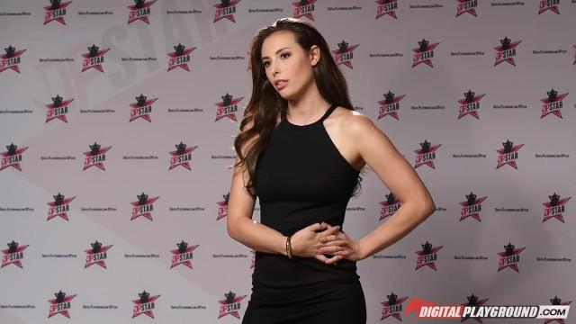 DP Star 3 - Hot Brunette Pornstar Casey Calvert Deep Throat Blowjob