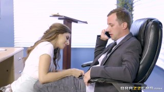 Brazzers - Nina North is a very bad schoolgirl  big-tits big-boobs brazzers young school-girl school brunette kneehighs heels socks shaved tight uniform skirt teenager doggystyle