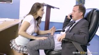 Brazzers - Nina North is a very bad schoolgirl  big-tits big-boobs brazzers young school-girl school brunette heels socks shaved tight uniform skirt teenager doggystyle kneehighs
