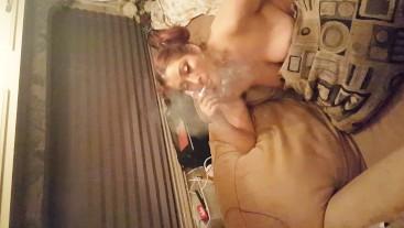 Just another smoking cock sucker!