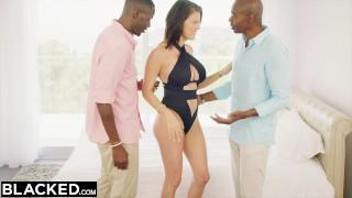BLACKED Wife Peta Jensen Cheats With Two Guys