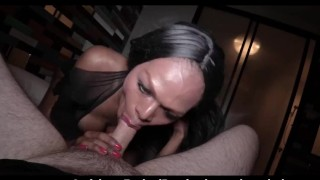 Blue Eyed Ladyboy Devil Pov Blowjob