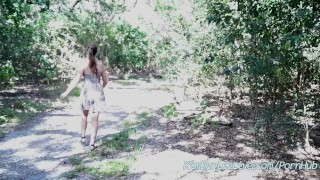 Public busty bj and flashes in kimber park babe gives lee kimberleelive busty