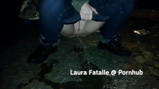 My hot step sister Got2pee extreme public pissing Laura Fatalle