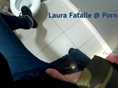Step sister masturbating in public toilet dont tell dad - Laura Fatalle