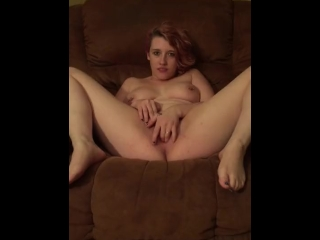 Horny slut getting herself wet