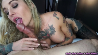 Edge play with Kleio Two blowjob