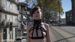 Jeny smith in public straps mymokondo butt exhibitionist