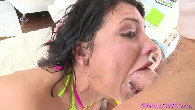 SWALLOWED Adriana, Jynx and Megan in triple sloppy Blowjob