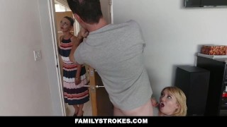 FamilyStrokes - Scavenger Hunt With Step-sis turns sexual  zelda morrison step siblings step-brother pale redhead blonde cfnm cumshot hardcore natural-tits smalltits familystrokes step-sister stepsis bigcock facialize facial doggystyle clothed sex