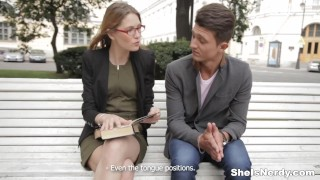 Preview 1 of She Is Nerdy - Mixing sex with English studies
