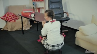 Portuguese school girl nina hot anal class prepares for trevino tits pigtails