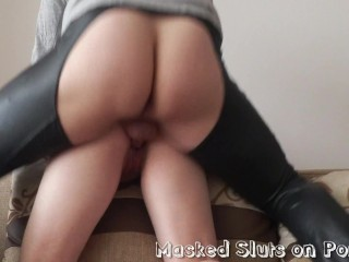 Masked Slut Gives Head And Gets Fucked Doggystyle With A Cumshot On Her Ass