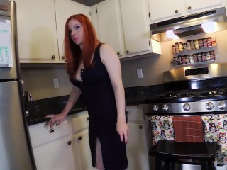 PEEPING PAPERBOY creampies MILF Lady Fyre POV redhead