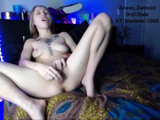 Arwen Fucks Herself with a Crystal Dildo