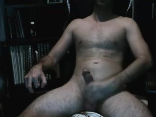 Stroking My Big White Cock